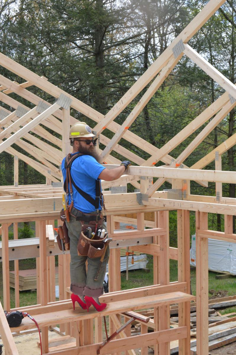 Manufactured roof trusses designed for extra energy for Pre made roof trusses