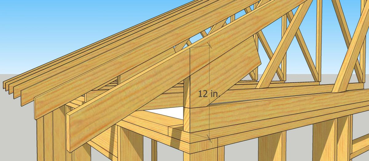 raised heel trusses can take a couple of forms sometimes the truss wedges a scrap of 2x6 between the bottom chord and the top chord