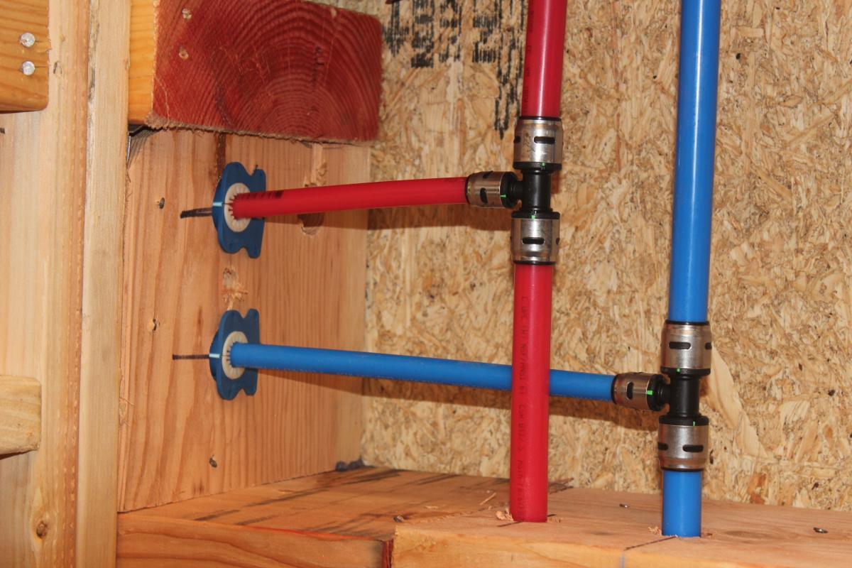 SharkBite EvoPEX plumbing system at Sheldon Street