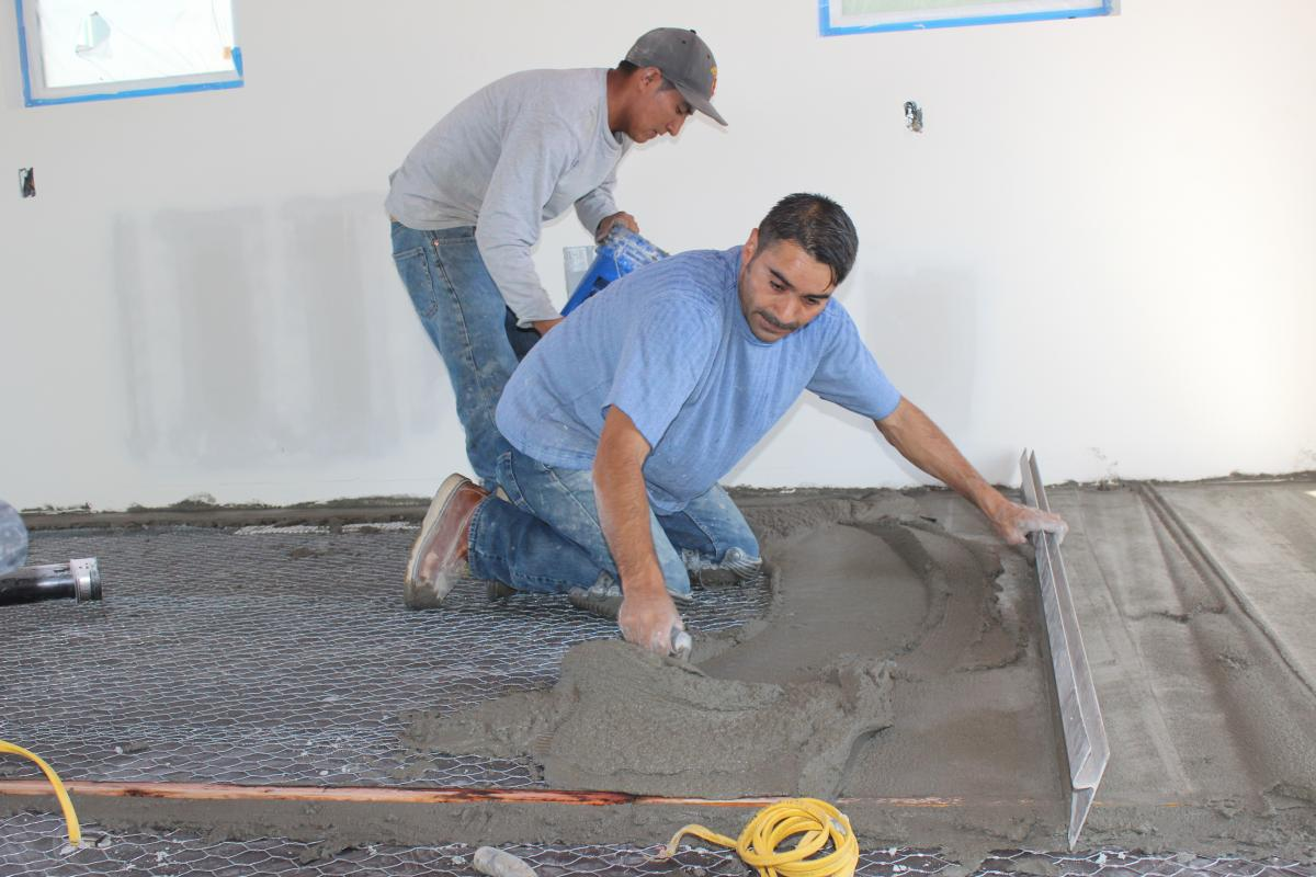 Laying And Leveling A Concrete Float Model Remodel