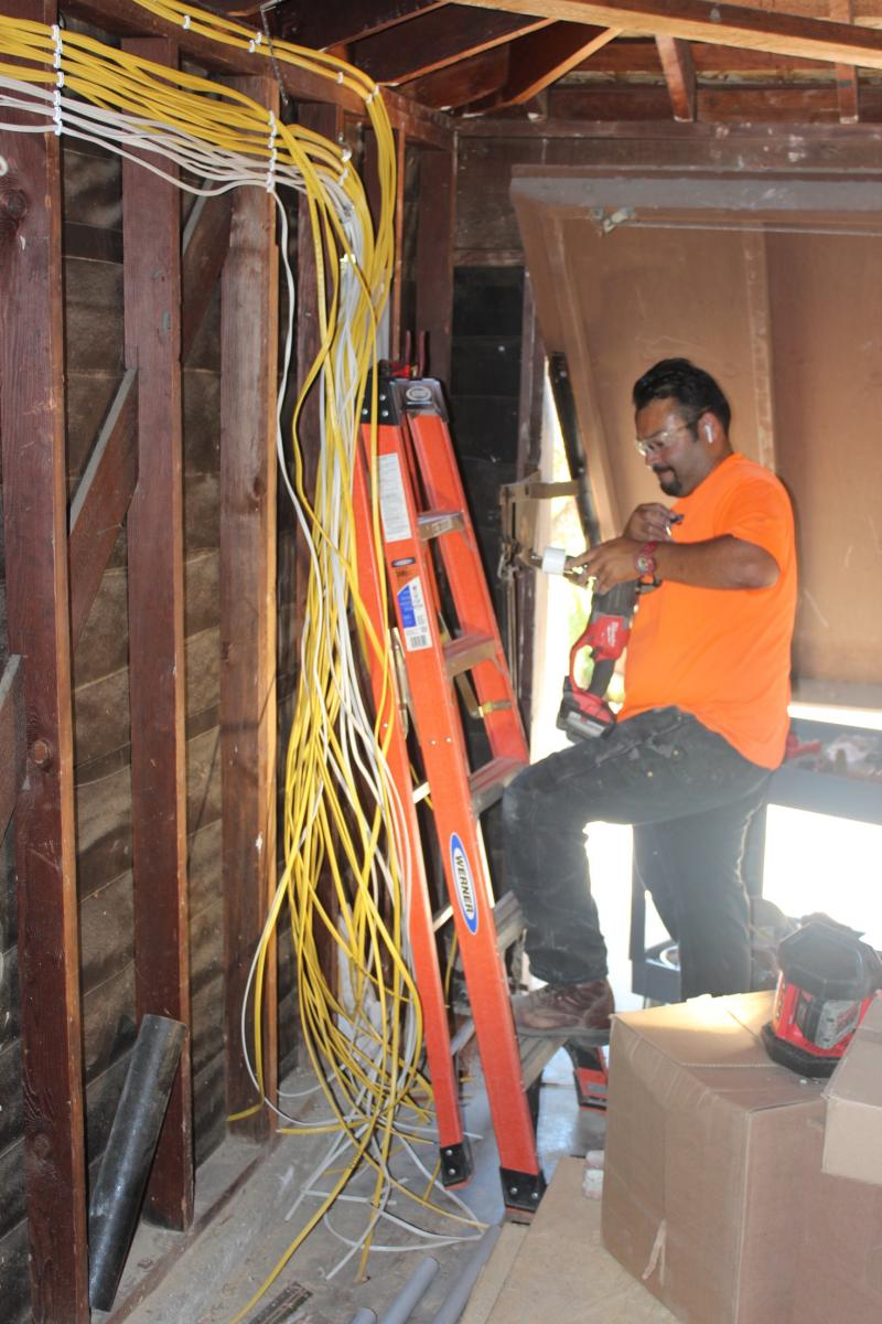 Keeping Lines Of Communication Clear Model Remodel Rough Electrical Wiring Despite The Fact That Weve Been Following Significant Progress By Numerous Trades From Plumbing To Hvac At Custom Design Construction